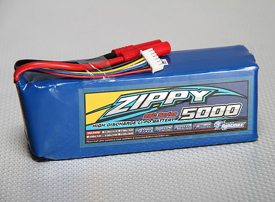ZIPPY Flightmax 5000mAh 5S1P 25C