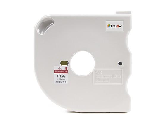 CoLiDo 3D Printer Filament 1.75mm PLA 500g Spool w/Cartridge (Yellow)