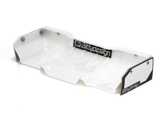 Bittydesign Zefirus Lexan Wing for all 1/8 Buggy/Truggy (White)