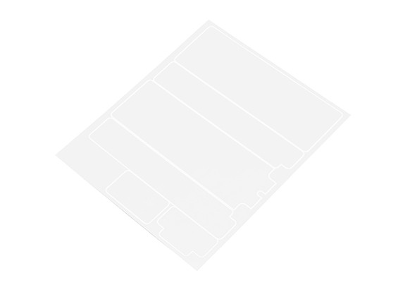 TrackStar Decorative Battery Cover Panels for Standard 2S Hardcase Flat Transparency (1 pc)