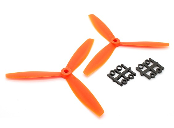 GemFan 6040 GRP 3-Blade Propellers CW/CCW Set Orange (1 pair)