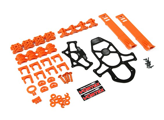 ImmersionRC - Vortex 285 Crash Kit 1, Plastic Parts - Orange