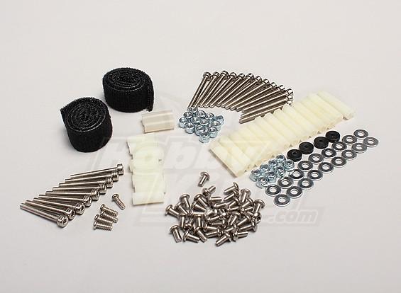Hobbyking Y650 Scorpion Hardware Set w/Battery Straps (complete)