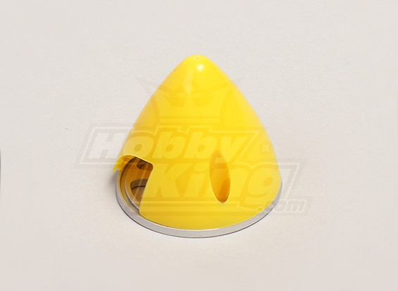 Nylon Spinner with Alloy Backplate 38mm Yellow