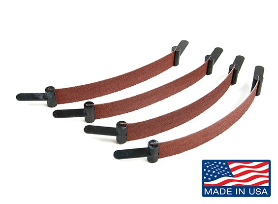 "Zona 1/2"" Wide Plain End Scroll Sanders Assorted Grit (4pcs)"