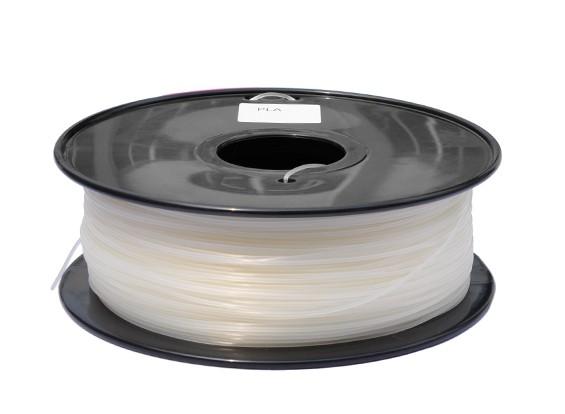 HobbyKing 3D Printer Filament 1.75mm PLA 1KG Spool (Clear)