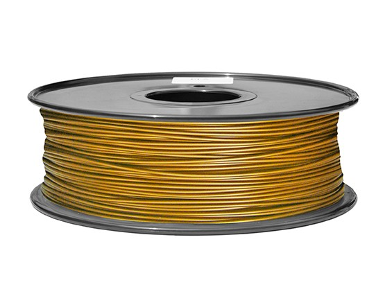 HobbyKing 3D Printer Filament 1.75mm PLA 1KG Spool (Metallic Gold)