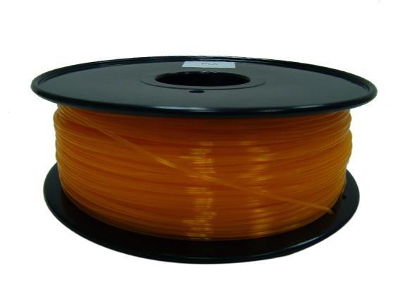 HobbyKing 3D Printer Filament 1.75mm PLA 1KG Spool (Bright Orange)