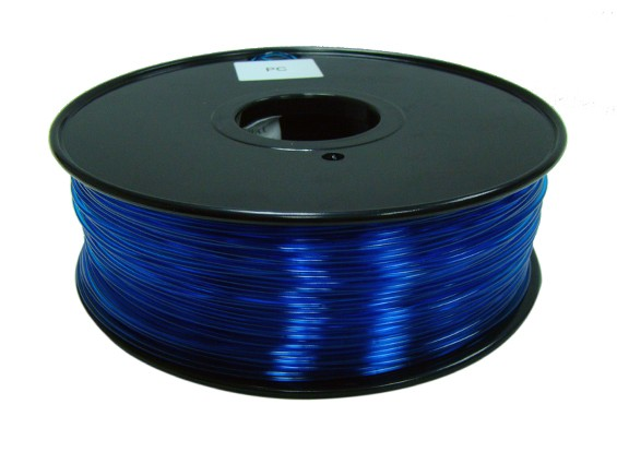 HobbyKing 3D Printer Filament 1.75mm Polycarbonate or PC 1KG Spool (Translucence Blue)