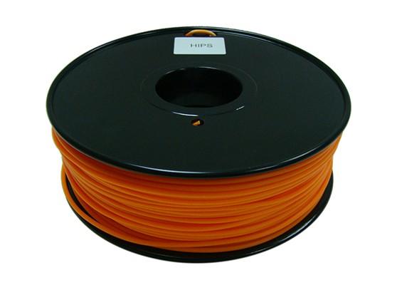 HobbyKing 3D Printer Filament 1.75mm HIPS 1KG Spool (Solid Orange)
