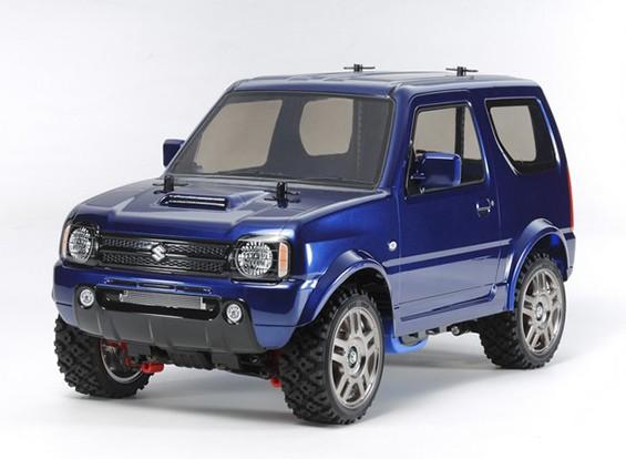 Tamiya 1/10 Scale Suzuki Jimny Metallic Blue Painted Body (MF-01X Chassis) 58621