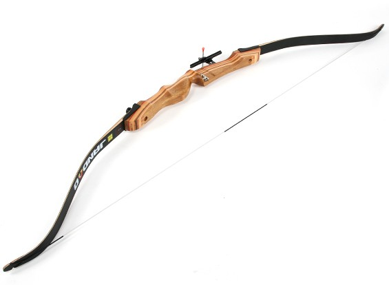 """Laminated Wood Take-Down Recurve Bow 66""""/22 lbs R/H"""