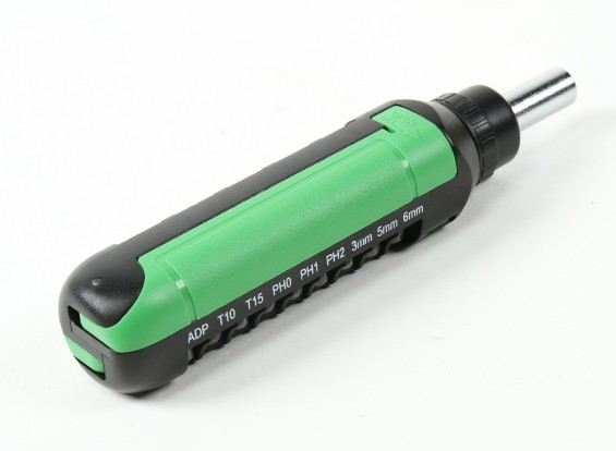 HobbyKing™ 15pc Rachet Screwdriver Set (Green)