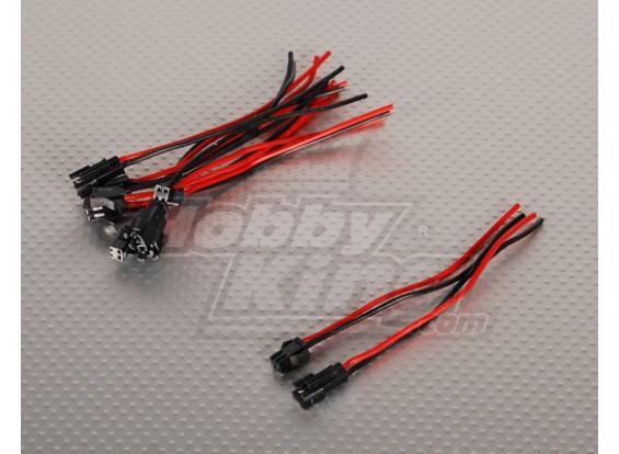 2 PIN connector Male/Female 12cm each. (5pairs/bag)