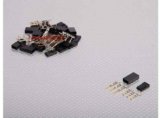 JST-SH Servo Plug Set (JR) Gold Plated (10pairs/set)