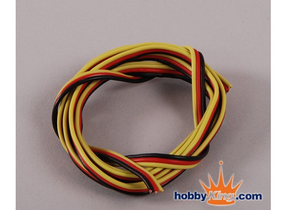 Flat 26AWG servo wire 1mtr (R/B/Y)