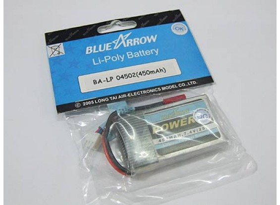 Blue Arrow Lipo pack 450mAh 2S 12C