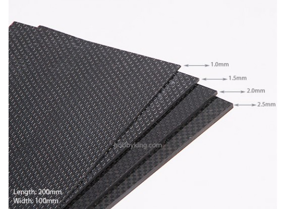 Woven Carbon Fiber Sheet 200x100 (2.5MM Thick)