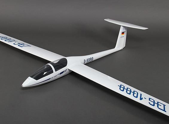 DG-1000 Composite Sailplane 2650mm w/Air Brakes/Retracting Main Wheel/Geardoors (ARF)