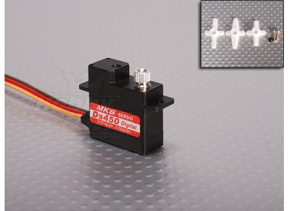 MKS DS450 Digital Servo 3.1kg / .12sec / 9.5g