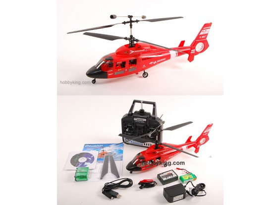 Dauphin Co-Ax RTF Helicopter 72Mhz (Black)