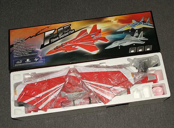 SCRATCH/DENT F-15 70mm EDF Jet w/Retracts RED (ARF)