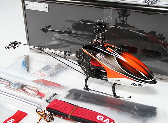 Gaui Hurricane 200 EP 3D Helicopter Deluxe Combo - Red/Black