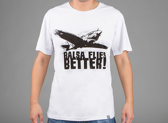 HobbyKing Apparel Balsa Flies Better Cotton Shirt (Large)