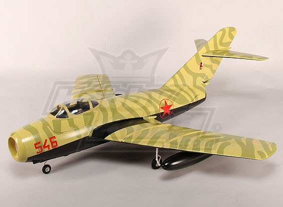 Mig-15 EDF Jet 70mm Electric Retracts, Flaps, Airbrake, EPO Camo (PNF)
