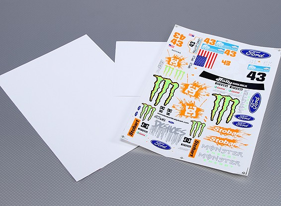 Self Adhesive Decal Sheet - Monster Rally 1/10 Scale (3pc)