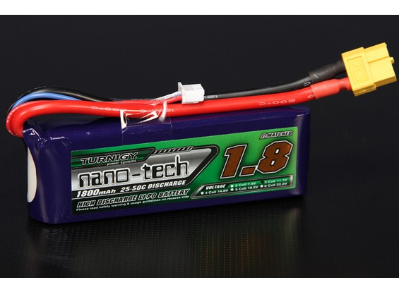 Turnigy nano-tech 1800mah 3S 25~50C Lipo Pack