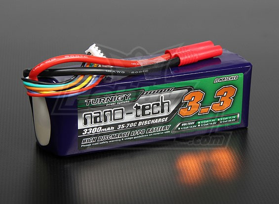 Turnigy nano-tech 3300mah 6S 35~70C Lipo Pack