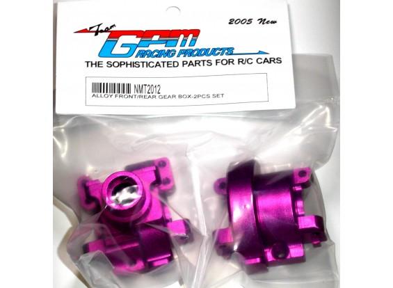 MT2 Alloy Front/Rear Gear box w/ screws 2pc set