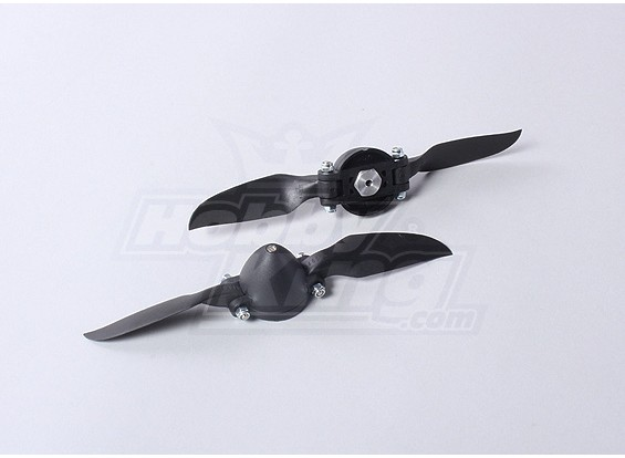 Folding Propeller W/Hub 35mm/3mm Shaft 6.5x4 (2pcs)
