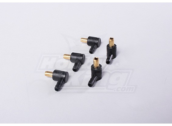 90 Degree Plastic-coated Fuel Pipe Joiners (5pcs/bag)