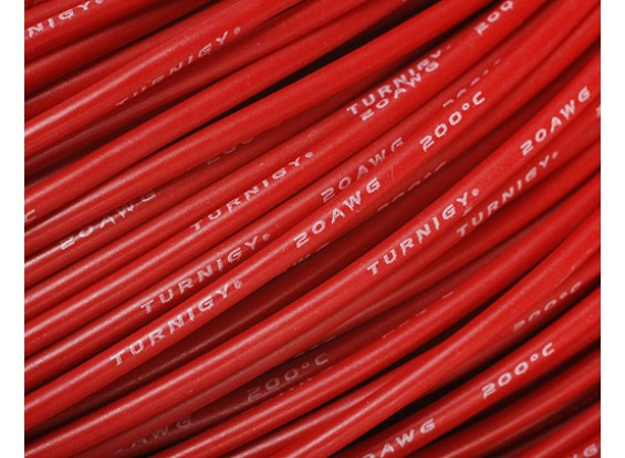 Turnigy Pure-Silicone Wire 20AWG 1m (Red)