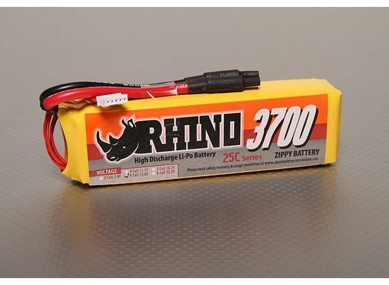 Rhino 3700mAh 4S 14.8v 25C Lipoly Pack