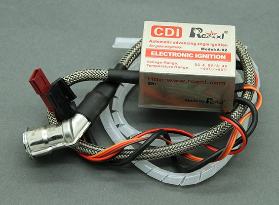 SCRATCH/DENT -  Rcexl Single Cylinder CDI Ignition for NGK CM6-10mm 120 Degree Cap