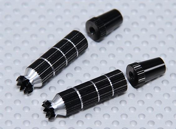 Alloy Anti-Slip TX Control Sticks Long (JR TX - Black)