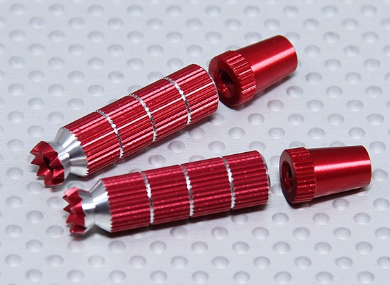 Alloy Anti-Slip TX Control Sticks Long (Futaba TX Red)