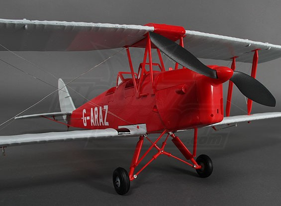 TigerMoth DH82A Red/Silver 912mm (P&P)