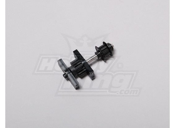 TZ-V2 .50 Size Tail Drive Spur Gear Assembly