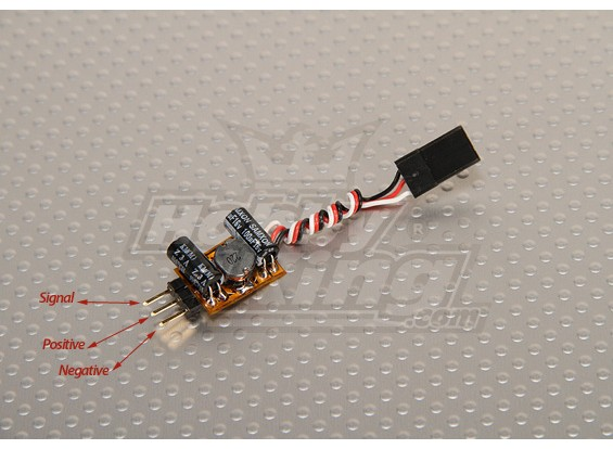 TURNIGY Voltage Booster for Servo & Rx (1S to 5v 1A)