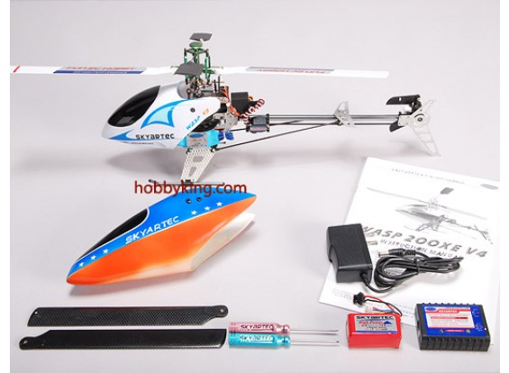 Wasp V4 Belt Driven CP/Brushless R/C helicopter