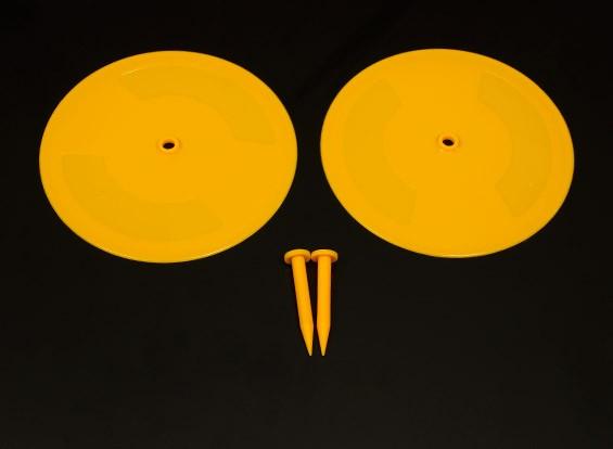 Radio Control Car Track Drift Markers Yellow 2 x 200mm