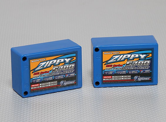 ZIPPY 5700mAh 2S3P 25C Saddle Pack