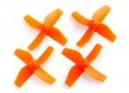35mm 4-Blade Propeller (2CCW, 2CW) (Orange)