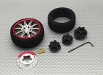 Alloy Pistol Transmitter Turning Wheel 10 Spoke (titanium)