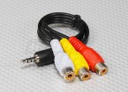 3.5mm to RCA A/V Plugs Lead (300mm)