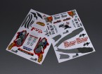 Self Adhesive Decal Sheet - Team Samurai 1/10 Scale